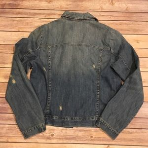 J. Crew Factory Jackets & Coats - Distressed J. Crew Factory Jean Jacket, Size M